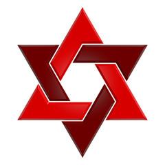 Hexagram - 006B - Red