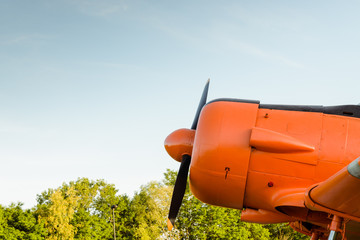 Engine propeller, Old airplane, North American T-6G Texan