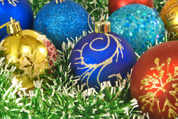 Image of Christmas balls closeup