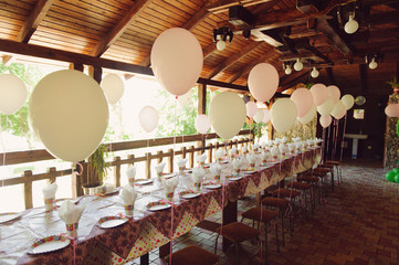 Birthday Table with Balloons