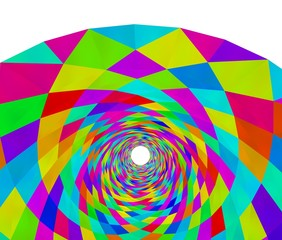 カラフルなトンネルの背景素材
