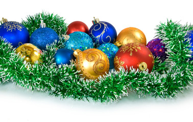 isolated Image of Christmas balls