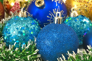 Image of Christmas decorations closeup