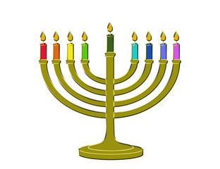 menorah hanukkah candles