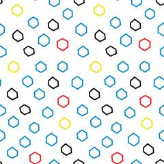 Hand drawn doodle seamless geometric pattern