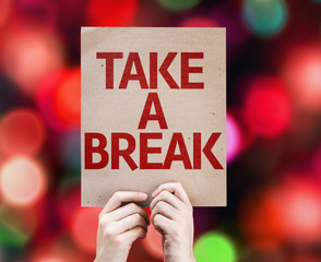 Take a Break card with colorful background