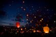 Night christmas festival of lights - 74480415