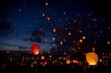 Night christmas festival of lights