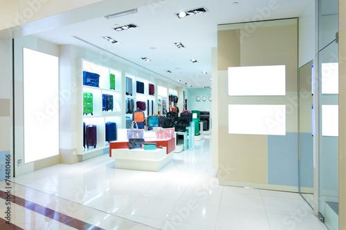 Leinwanddruck Bild handbag store interior