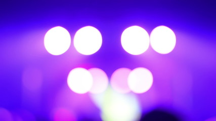 blurred stage lights