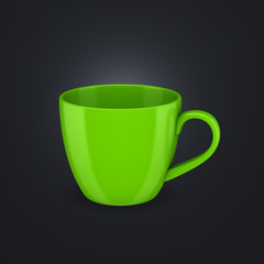 3d rendered cup.