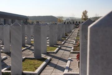 Muslim cemetery in sarajevo