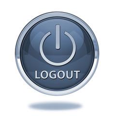 Logout pointer icon on white background