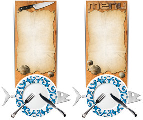 Set of Seafood Banners
