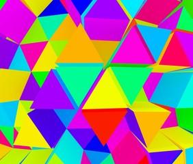 カラフルな三角の背景素材