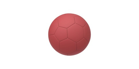 red soccer ball isolated on white. football ball