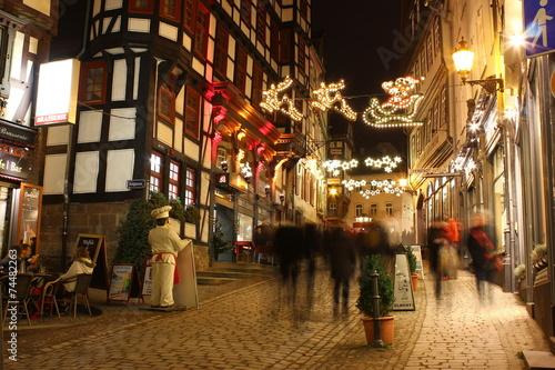 canvas print picture Historische Weihnachtsstadt