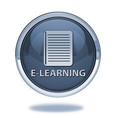 E-learning pointer icon on white background