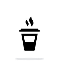 Half plastic cup simple icon on white background.