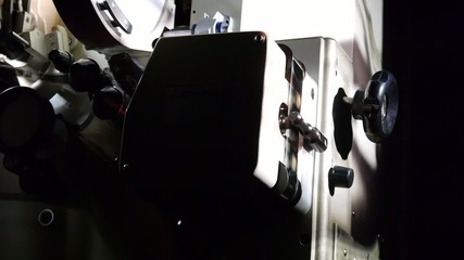 35mm Cinema machine plays film