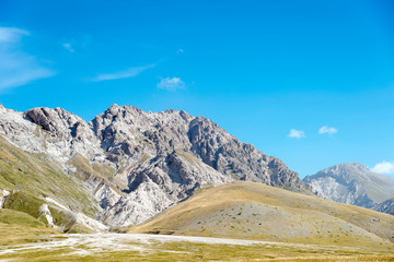 Monte Infornace landscape of Campo Imperatore's upland, Italy
