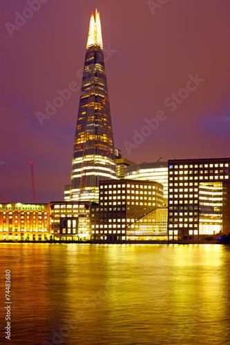 Fototapeta London shard at night in the UK