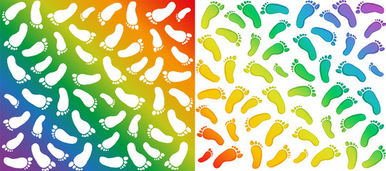 Vector pattern - prints traces of foots