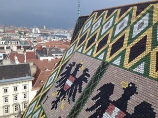 シュテファン寺院の屋根と景色
