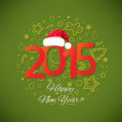 Green New Year Card