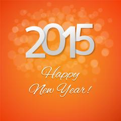 Orange New Year Card
