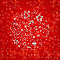 Red Blurred New Year Card