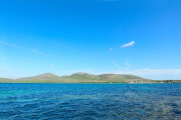 blue sea under a clear sky