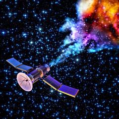 falling artificial satellite has burned up