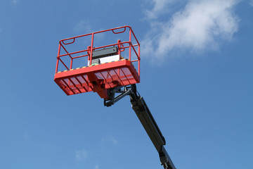 A High Lift Cherry Picker Hydraulic Vehicle.