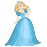 Beautiful blond princess