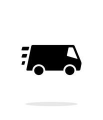 Fast delivery Minibus icon on white background.
