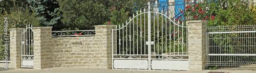 Leinwanddruck Bild portail métallique