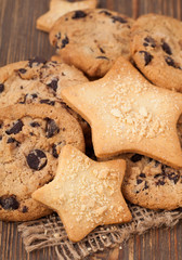 Christmas star and american cookies