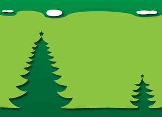 Merry Christmas and Happy New Year - Trees with a green theme