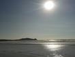 canvas print picture - Sonne über dem Meer