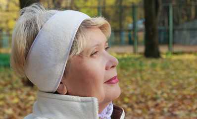 Portrait of a woman in the park
