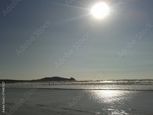 canvas print picture Sonne über dem Meer