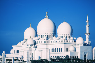 Grand Mosque with blue sky