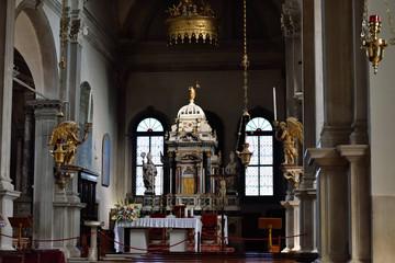 Interior of  church San Martino di Burano