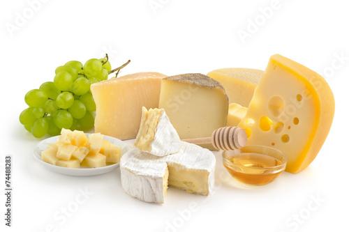 Fotobehang Zuivelproducten cheese selection