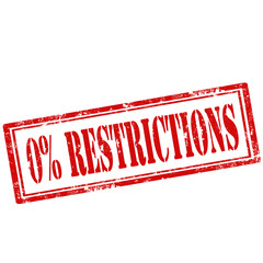 0% Restrictions-stamp