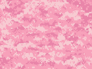Girly camouflage pixels