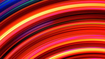 Abstract Rainbow Light Streaks Loop