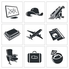 Airplane icon set