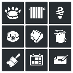 Utilities Vector Icons Set